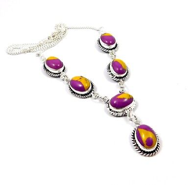 Rainbow Calsilica Stone Necklace Silver Plated Bohemian New Fashion Gift JC8310