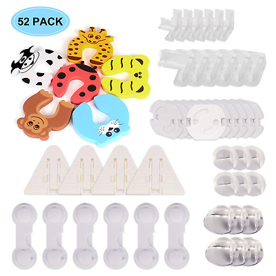 Baby Proofing, Vacnite 52 Pcs Baby Safety Locks-24 Corner Protectors,6 Pcs Child