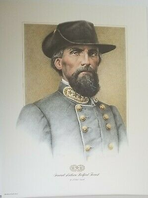 General Nathan Bedford Forrest Signed limited numbered edition art print MINT