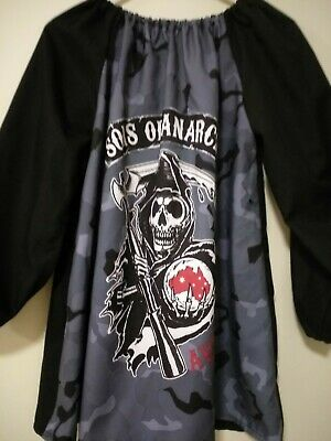 Handmade Kids  Art Smock Boys 8-10 blue Sons of anarchy
