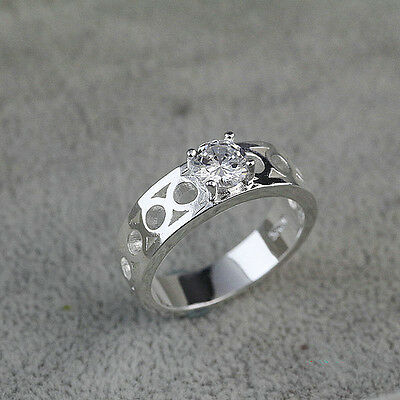 925 Solid Sterling Silver Plated Women/Men NEW Fashion Ring Gift SIZE 8 HR10