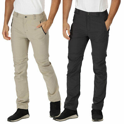Regatta Mens 2019 Leesville Zip Off Quick Drying UPF 40+ Trousers 71% OFF RRP