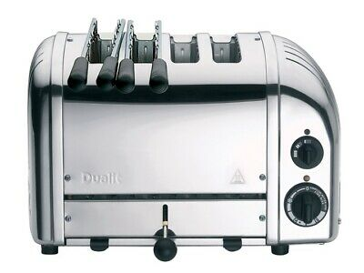 Dualit Classic Combi 2 x 2 Four Slot Toaster 4 Slice Stainless Steel Polished
