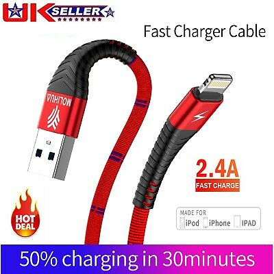Braided USB Quick Magnetic Charger Data Charging Cable Lead For iPhone 6s 7 8 XS
