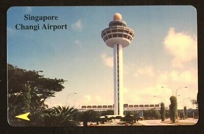 Limited Edition Singapore phone card + postcard CHANGI AIRPORT mint! with pack