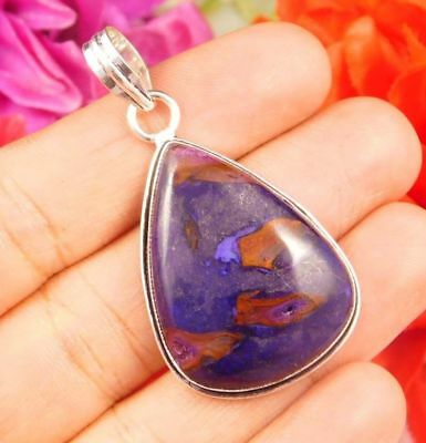 Gorgeous .925 Silver Plated Rock Calcy Stone Pendant Festival Gift JC2504