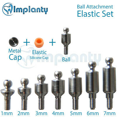 Ball Attachment Elastic Silicone Set Abutment Dental Implant Internal Hex