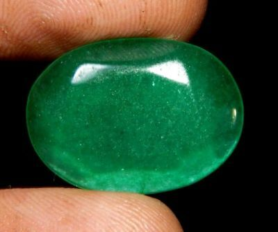Dyed Faceted Beryl Emerald Wonderful  Loose Gemstone  13 ct 22x16mm F353