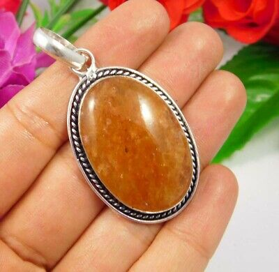 Cherry Quartz  .925 Silver Plated Handmade Designer Pendant Jewelry JC3758