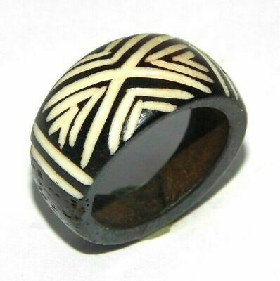 100% Natural Bone carving Designer Handmade Fashion Ring Size 9.5 Jewelry R645