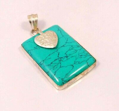 Turquoise .925 Silver Plated Handmade Pendant Jewelry JC6083