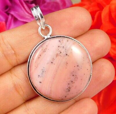 Pink Calcite .925 Silver Plated Handmade Designer Pendant Jewelry JC2434