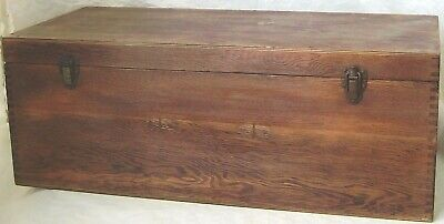 With Lift Out Long Tray Large Container Wooden Box
