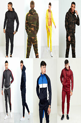 justyouroutfit mens skinny fit two tone zipper pocket tracksuits lounge-wear set