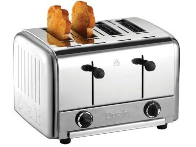 Dualit Commercial Catering Toaster Pop Up Four Slot Select 2 / 4 Slices of Bread