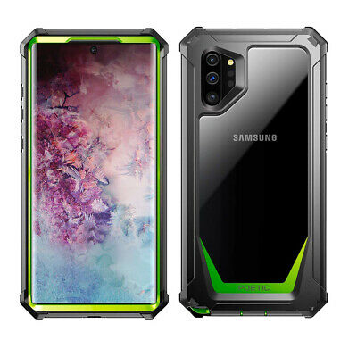 For Galaxy Note 10 Plus BumperShockproofCaseCover|360DegreeProtetiveGreen