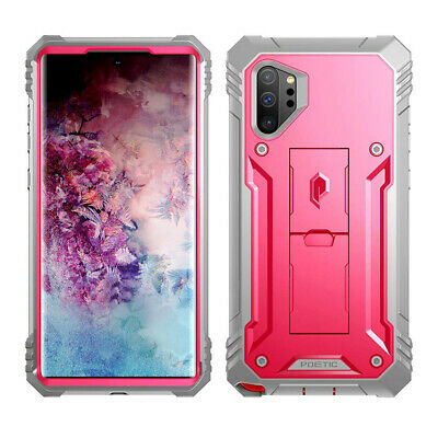 Galaxy Note 10 Plus Case Poetic Shockproof Cover Kick-stand Pink