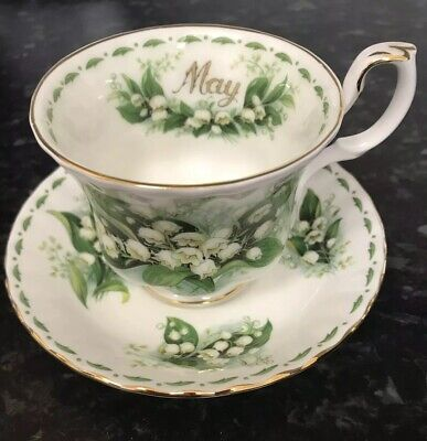 Royal Albert Flowers of The Month tea cup & saucer May and Lily Of The Valley