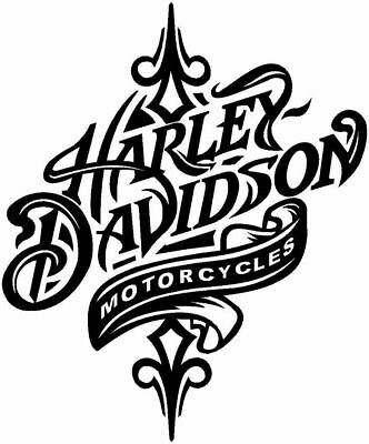 Harley Davidson art vinyl decal sticker colors available