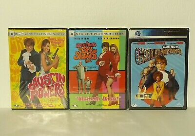 NEW Austin Powers Trilogy Collection DVD The Spy Who Shagged Me Goldmember