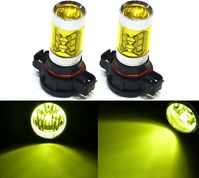 LED 80W PSX24W 2504 Yellow 3000K Two Bulbs Fog Light Replacement Plug Play Lamp