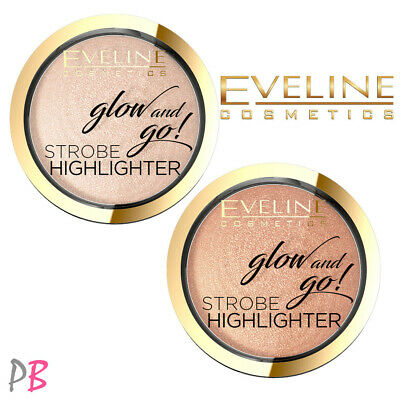 Eveline Glow and Go! Face Strobe Baked Highlighter Illuminating Pressed Powder