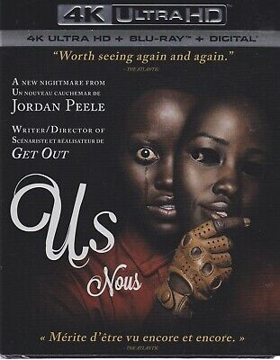 US 4K ULTRA HD & BLURAY & DIGITAL SET with Jordan Peele & Lupita Nyong'o