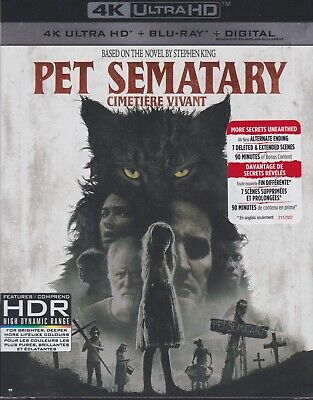 PET SEMATARY (2019) 4K ULTRA HD & BLURAY & DIGITAL SET with Stephen King