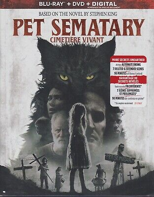 PET SEMATARY (2019) BLURAY & DVD & DIGITAL SET with Stephen King & Jason Clarke