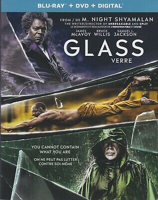 GLASS BLURAY & DVD & DIGITAL SET with Samuel L. Jackson & M. Night Shyamalan