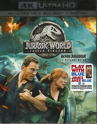 JURASSIC WORLD FALLEN KINGDOM 4K ULTRA HD & BLURAY & DIGITAL SET w/ Chris Pratt
