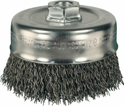 PFERD 82511 Power Crimped Cup Wire Brush, Threaded Hole, Carbon Steel Bristles