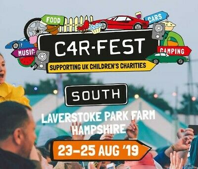 Carfest South 2019 Tickets - 2 x Adult Weekend Camping (Cost £356)