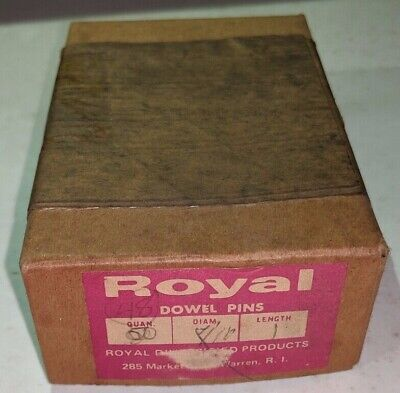 """Pack of 50 - 7/16"""" x 1"""" Royal Dowel Pins Alloy Steel"""