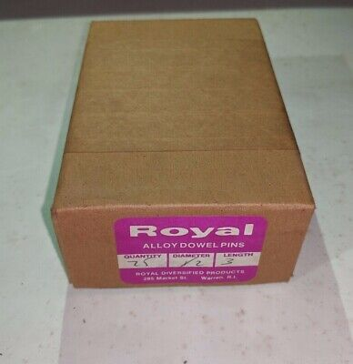 """Pack of 25 - 1/2"""" x 3"""" Royal Dowel Pins Alloy Steel"""