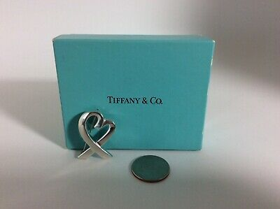 Tiffany & Co. Paloma Picasso Sterling Silver Loving Heart Pin - Signed