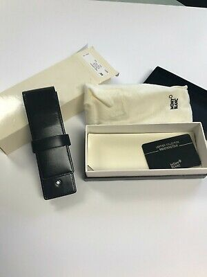Montblanc Leather case/pouch for 2 pens with box