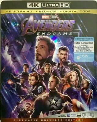 Genuine Avengers Endgame 4K Ultra Hd Uhd Blu-Ray Digital Slipcover New Free Ship