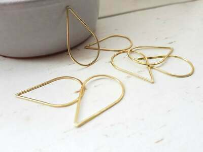 Large Teardrop Brass Connectors | 32 x 20 mm | 6 Pieces | Handmade to Order