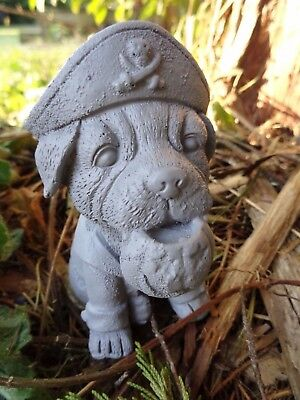 """Latex Halloween Pirate dog  mold plaster cement mould  4""""H x 3""""L x 2"""" thick"""