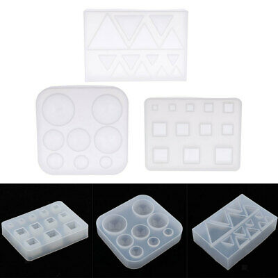 Round Square Silicone Jewelry Mold Charms Pendants Moulds DIY Resin Casting