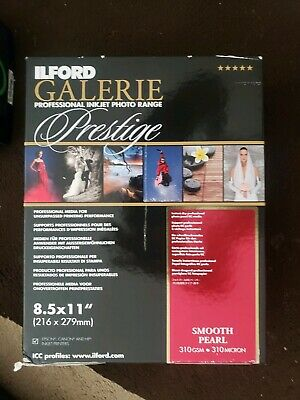 """ILFORD GALERIE Prestige Smooth Pearl 8.5""""x11""""  Photo Paper 250 Sheet 2001753"""