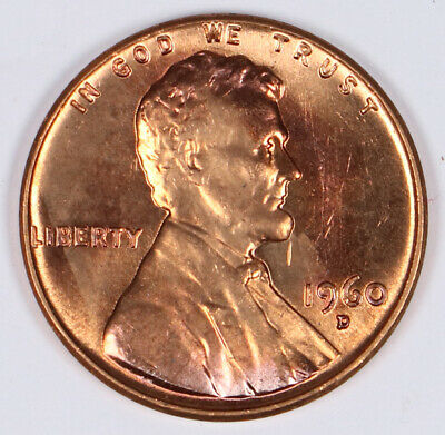 1960 D LINCOLN MEMORIAL CENT BU RED BRILLIANT UNC ☆1 COIN FROM ROLL☆