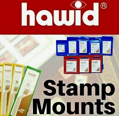 HAWID Stamp Mounts ⭐️ Black & Clear Stamp Mounts ⭐️Full Range Avail- Cut To Size