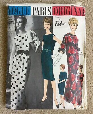 Vintage 1961 Patou Vogue Paris Original Jacket & Dress Sewing Pattern #1092 Rare