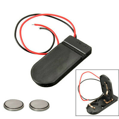 CR2032 3v Button Coin Cell Battery Holder Case Box On-Off Switch With Batteries