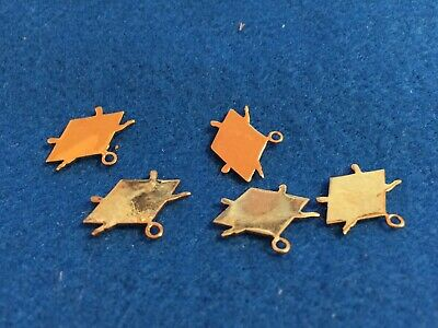 Lot of 5 1970's Vintage Parachute Skydiving Charms