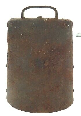 Antique American Large Cow Bell With Note.