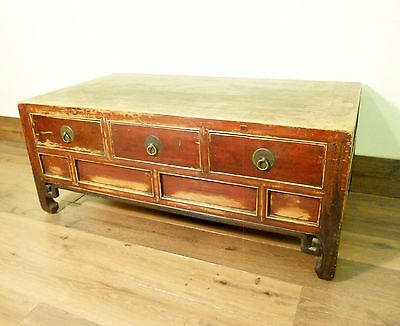 Antique Chinese Coffee Table (5737), (Low-Legged Desk), Cypress, Circa 1800-1849