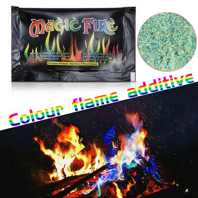 Mystical Fire Magic Tricks Bonfire Camp Fire Colorful Flame Powder Games Toy one